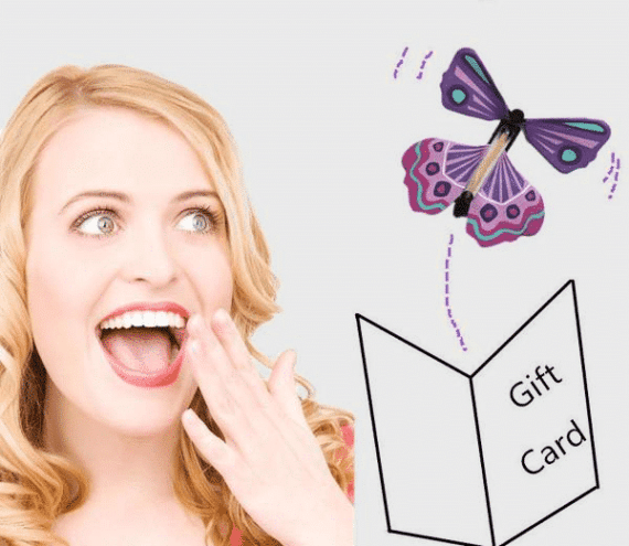 Flying Butterfly Card