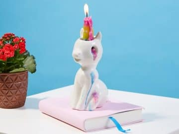 Crying Unicorn Candle