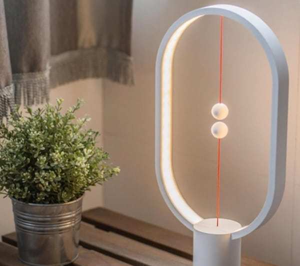 White Magnetic Balance Lamp