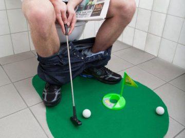 Mini Golf Set Toilet Game