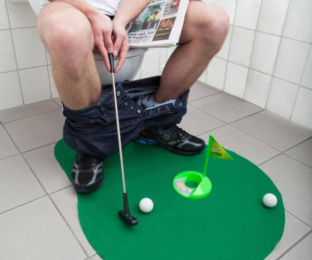 Mini Golf Set Toilet Game