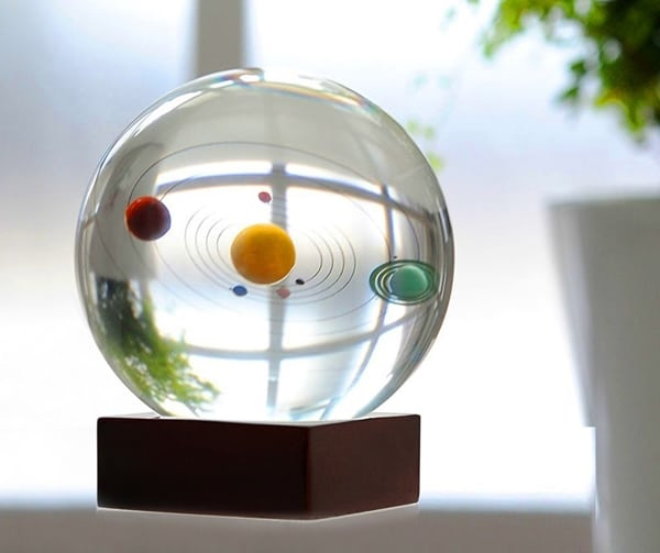 3D Crystal Ball with Solar System