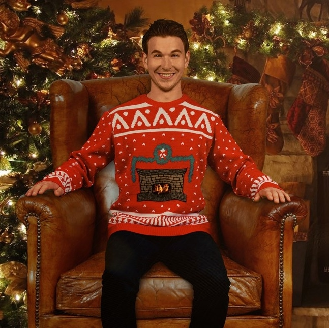 Animated Fireplace Christmas Sweater