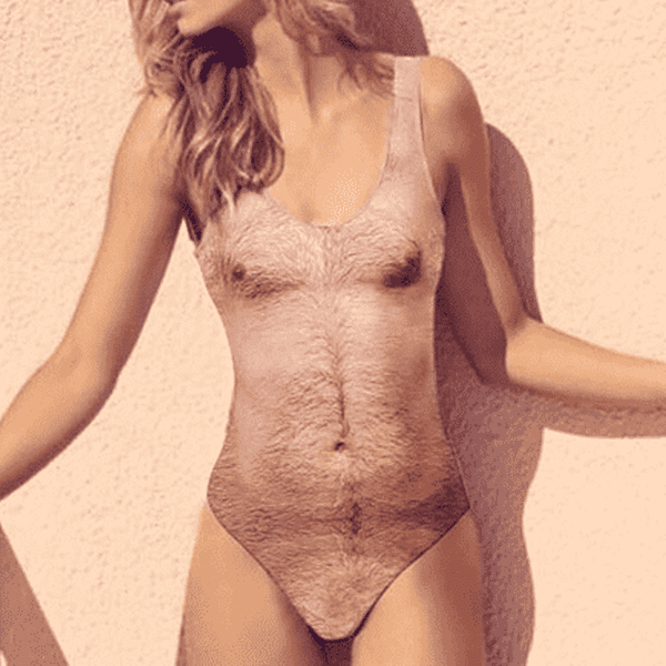 Sexy Hairy Chest Swimsuit