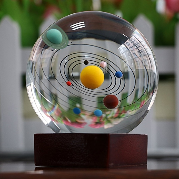 Solar System Crystal Ball Sphere