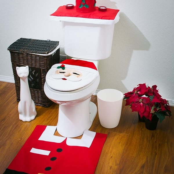 Creative Christmas Toilet Seat Cover