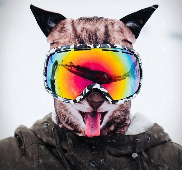 Happy Cat Ski Mask