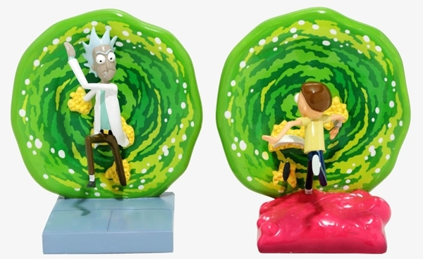 Creative Rick And Morty Portal Bookends