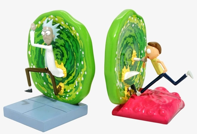 Funny Rick And Morty Portal Bookends