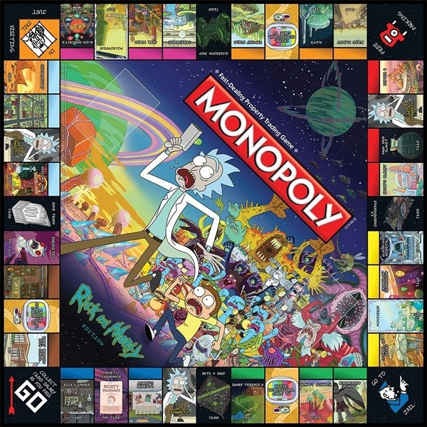 Rick And Morty Monopoly Deutsch