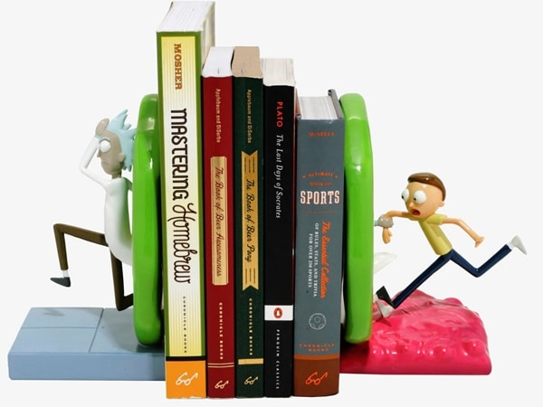 Spectacular Rick And Morty Portal Bookends