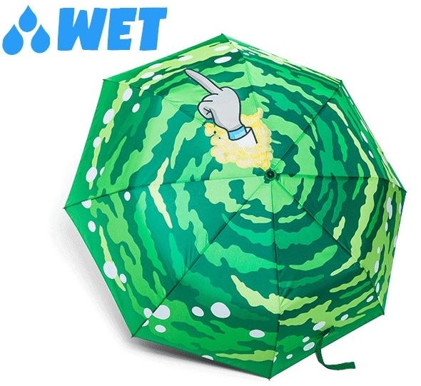 Wet Rick and Morty Umbrella