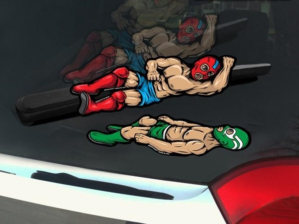 Luchador Windshield Wiper Decals