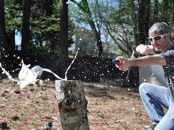 Pocket Shot Slingshot in action