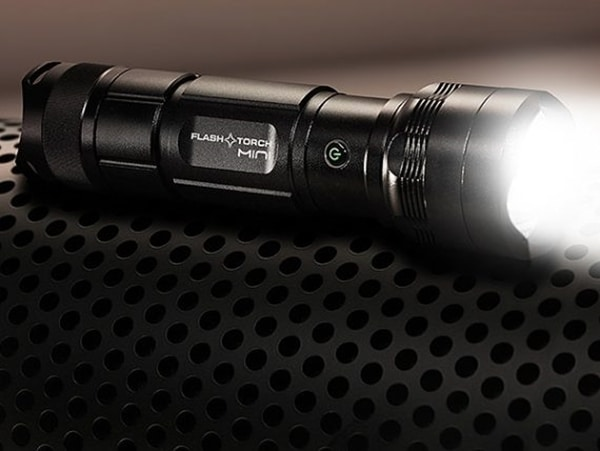 World's Smallest Burning Flashlight
