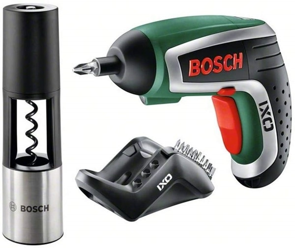 Bosch IXO Vino Cordless Lithium-Ion Screwdriver with Corkscrew Attachment