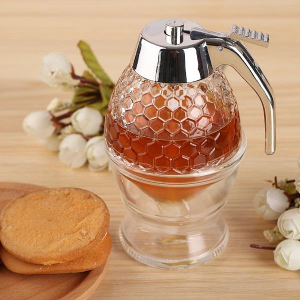 Honey Dispenser No Drip Glass