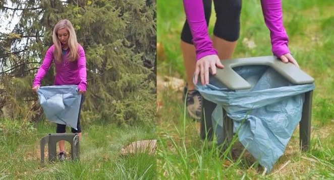Portable backpack toilet