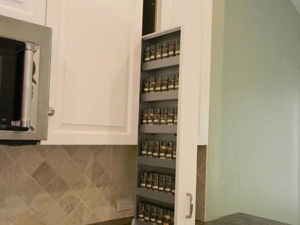 Dropdown Spice Rack Cabinet Drawer