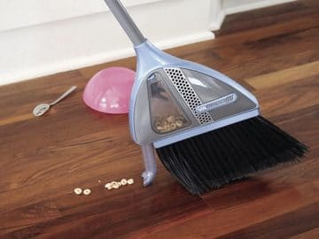 Broom with Built-In Vacuum