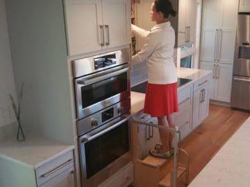 Hideaway Cabinet Step Stool