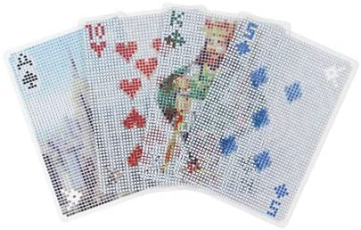 Playing Cards with Pixel Design