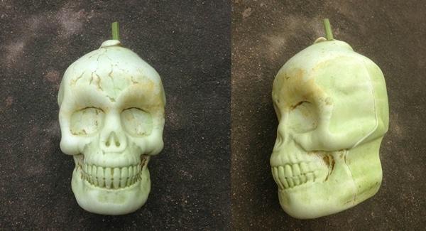Skull shape fruit molds