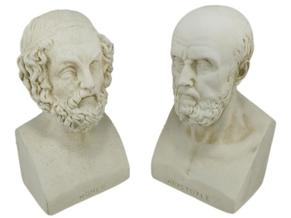 Homer and Aristotle Head Busts and Bookends