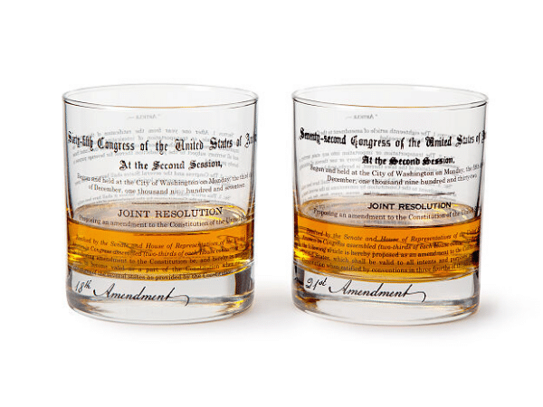 Prohibition History Glasses Gift for History Buffs