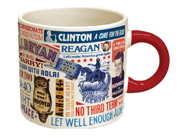Presidential Slogal Coffee Mug Gift for History Buffs