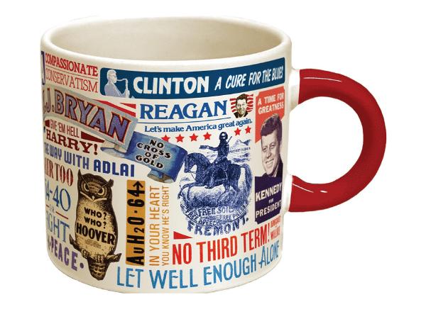 Presidential Slogal Coffee Mug Gift for History Buffs