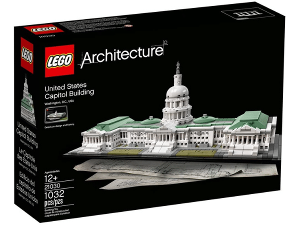 US Capitol Building Lego Kit Gift for History Buffs