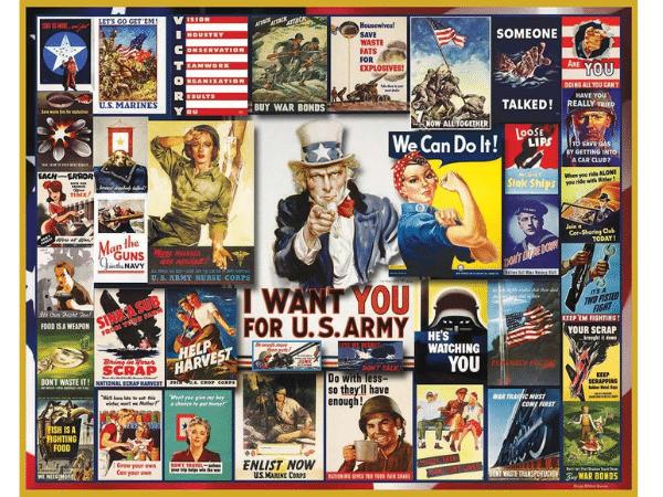 World War II Poster Collage