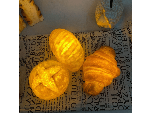 Crescent Roll and Bread Lamps Night Lights