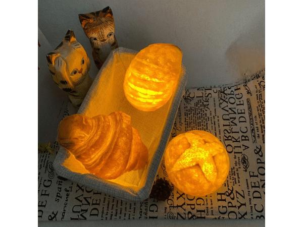 Three Bread Night Lights Glowing