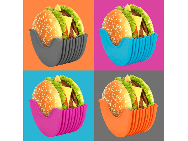 Buddy Burger Hamburger Holder in four different colors
